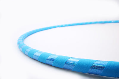 The Spinsterz - Sky Blue Weighted Fitness and Dance Hoop