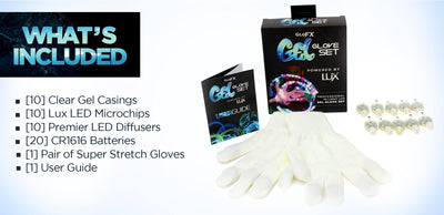 GloFX Gel Glove Set