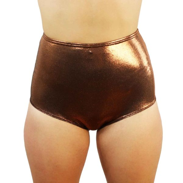 Bronze - High Waist Shorts