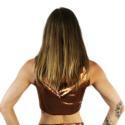Bronze - Ninja Hooded Crop Top