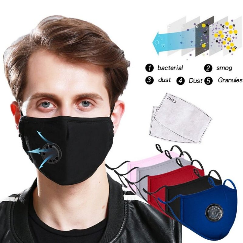 N95/PM2.5 Reusable Mask with Carbon Filter