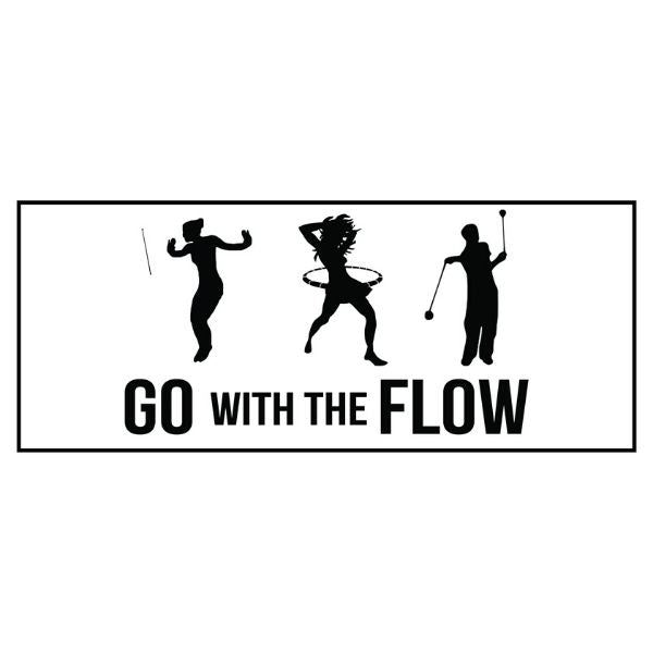Go With The Flow Bumper Sticker