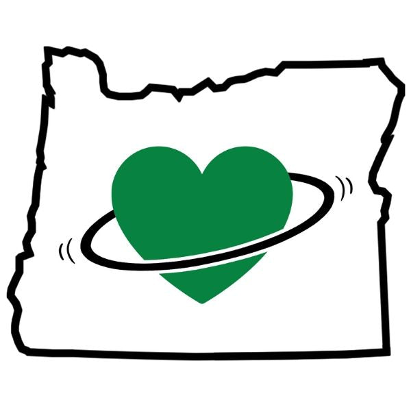 I Love Oregon Hoop Sticker