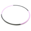Black Glitter Rose 4 Section Travel Hoop