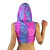Pink Nebula - Ninja Hooded Crop Top