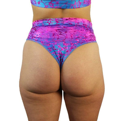 Pink Nebula - High Waisted Thong