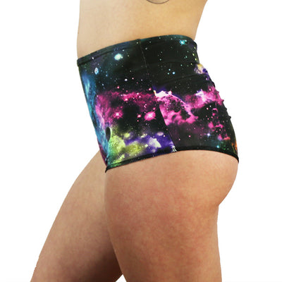 Rainbow Galaxy - High Waist Shorts