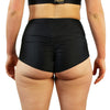 Soft Black - High Waist Shorts