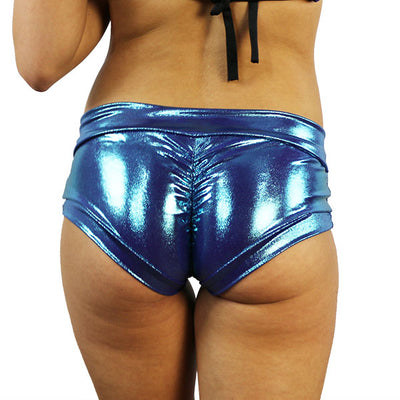 Teal Microdot - Pole Shorts