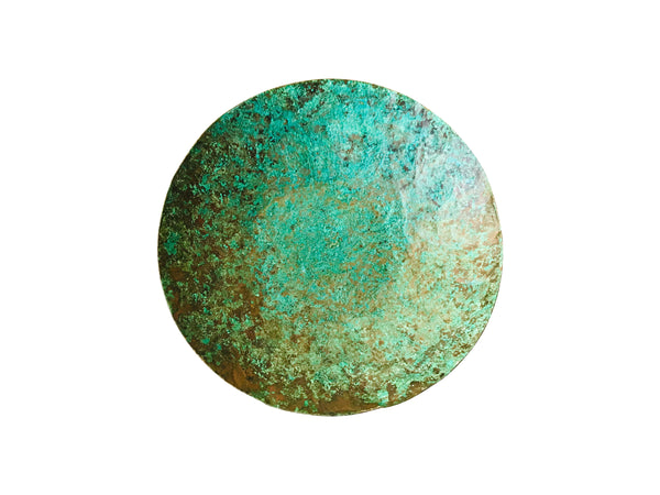 Copper Ring Dish with Natural Blue Patina