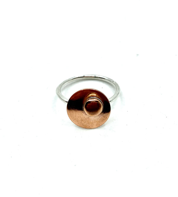 Copper Shine Ring, 7.5