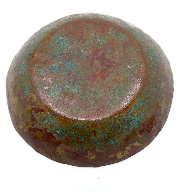 Hammered Copper Bowl with Natural Patina -- Limited Edition #5