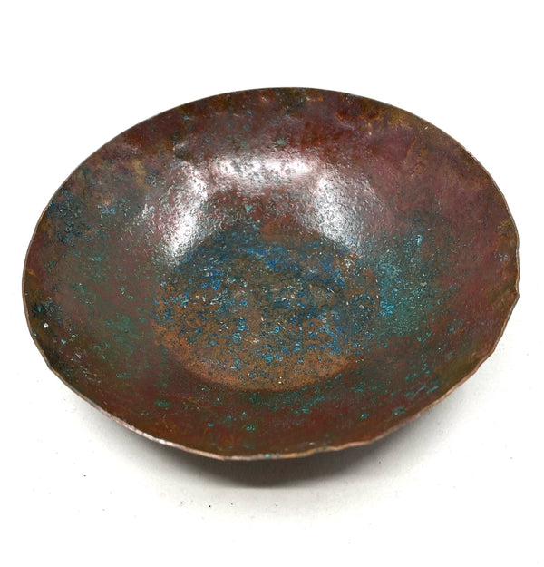 Hammered Copper Bowl with Natural Patina --Limited Edition #2