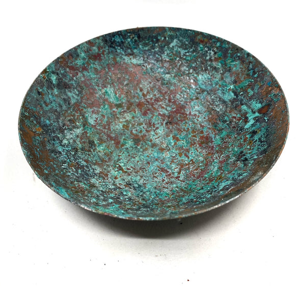 Hammered Copper Bowl with Natural Patina --Limited Edition #1