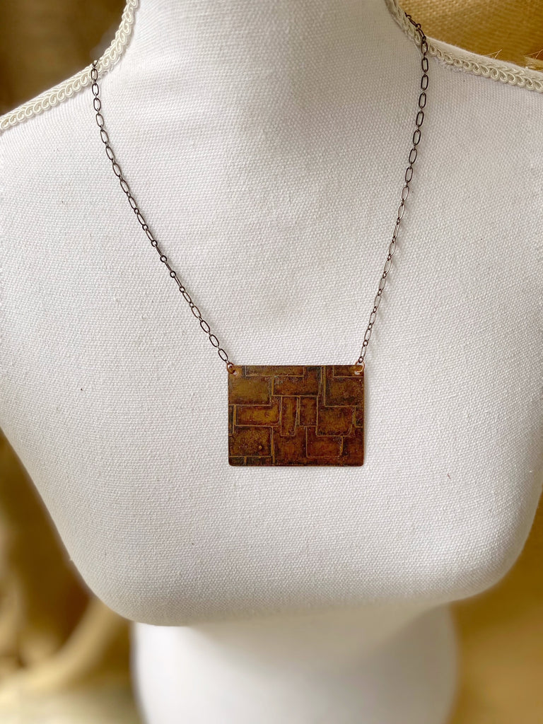 Etched Shingles Pendant
