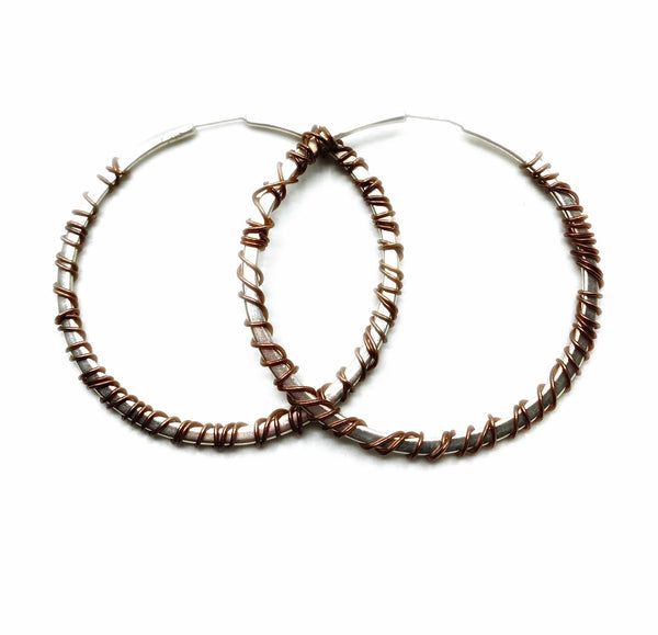 Big Mixed Metal Hoops