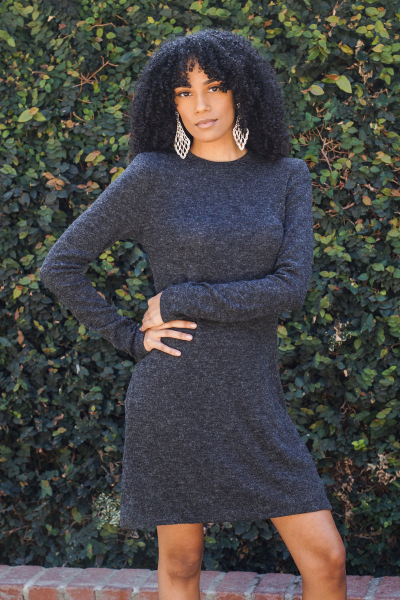 Mock Neck Sweater Dress - Mommylicious