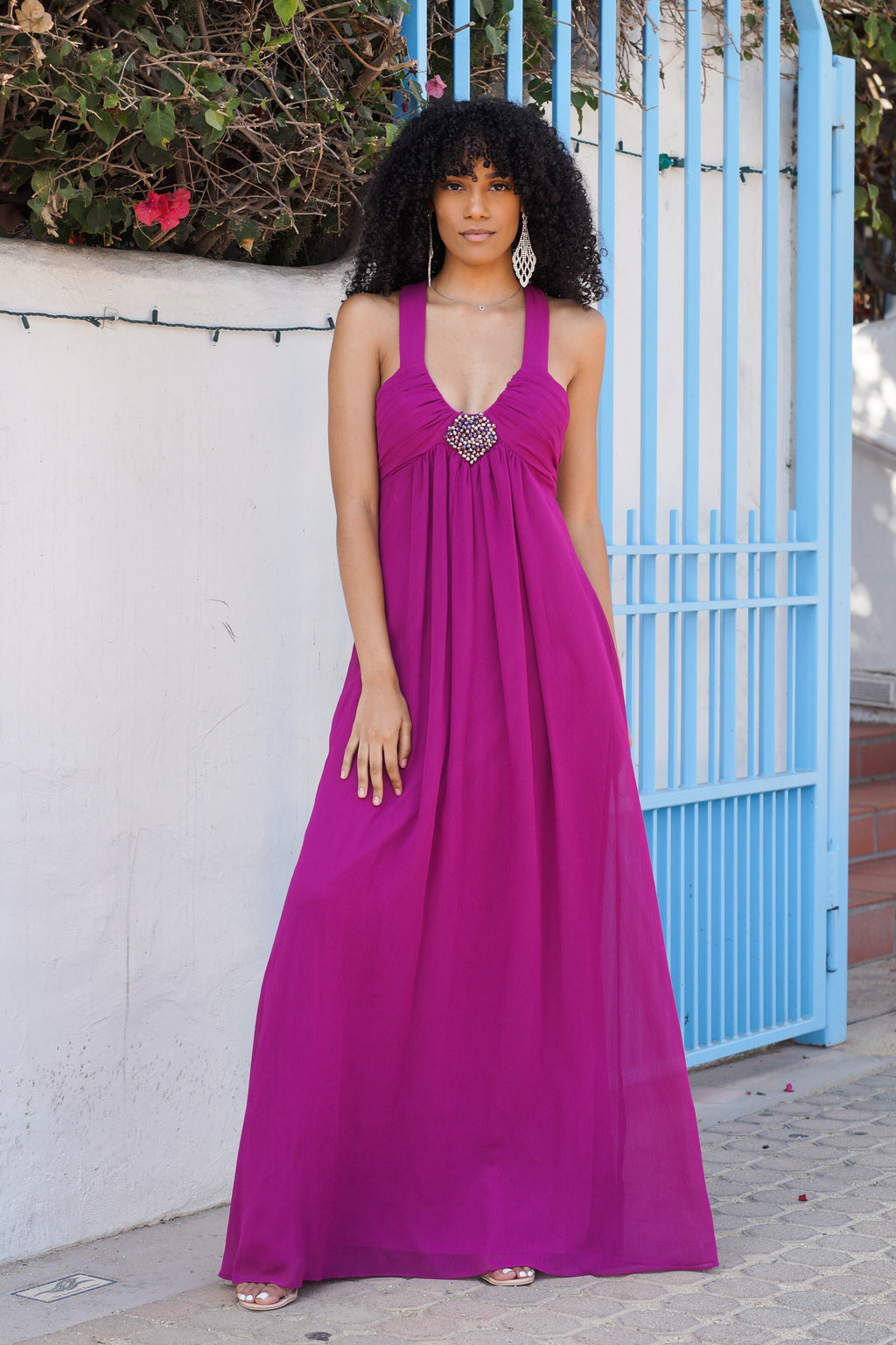 T-Back Chiffon Gown - Mommylicious