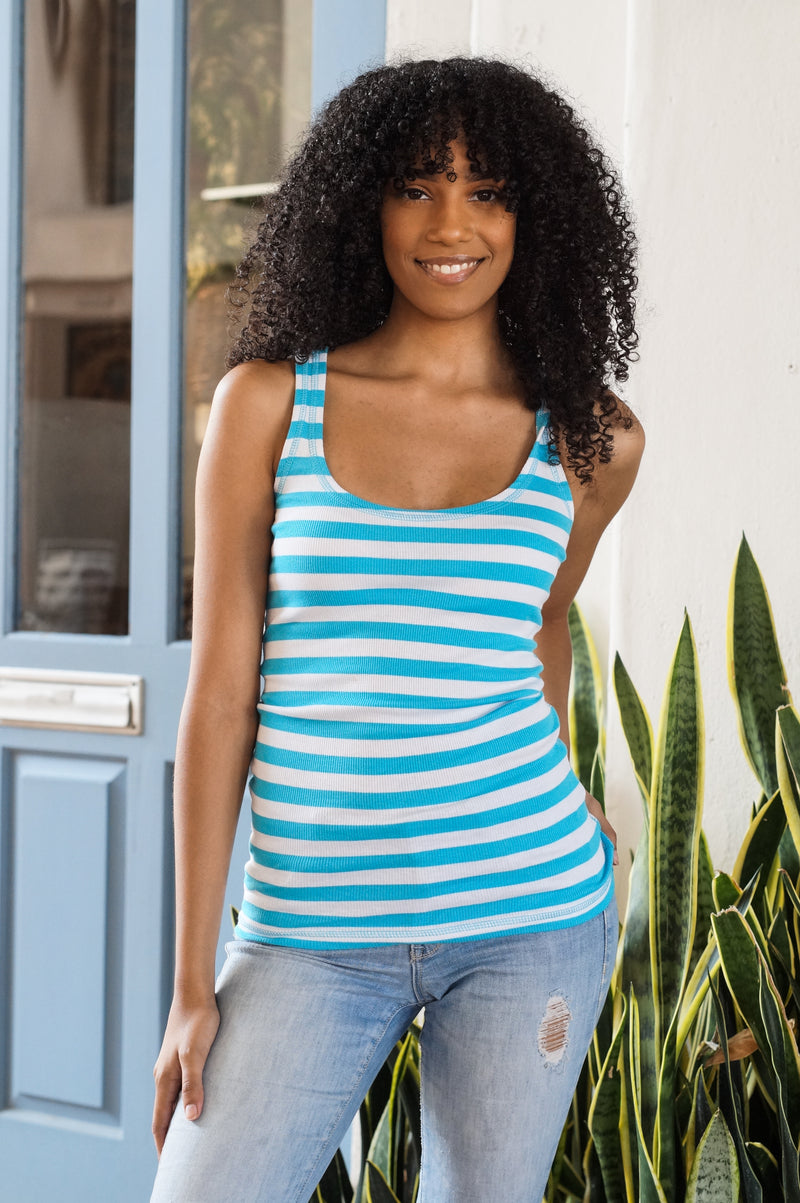Striped Racerback Tank - Mommylicious