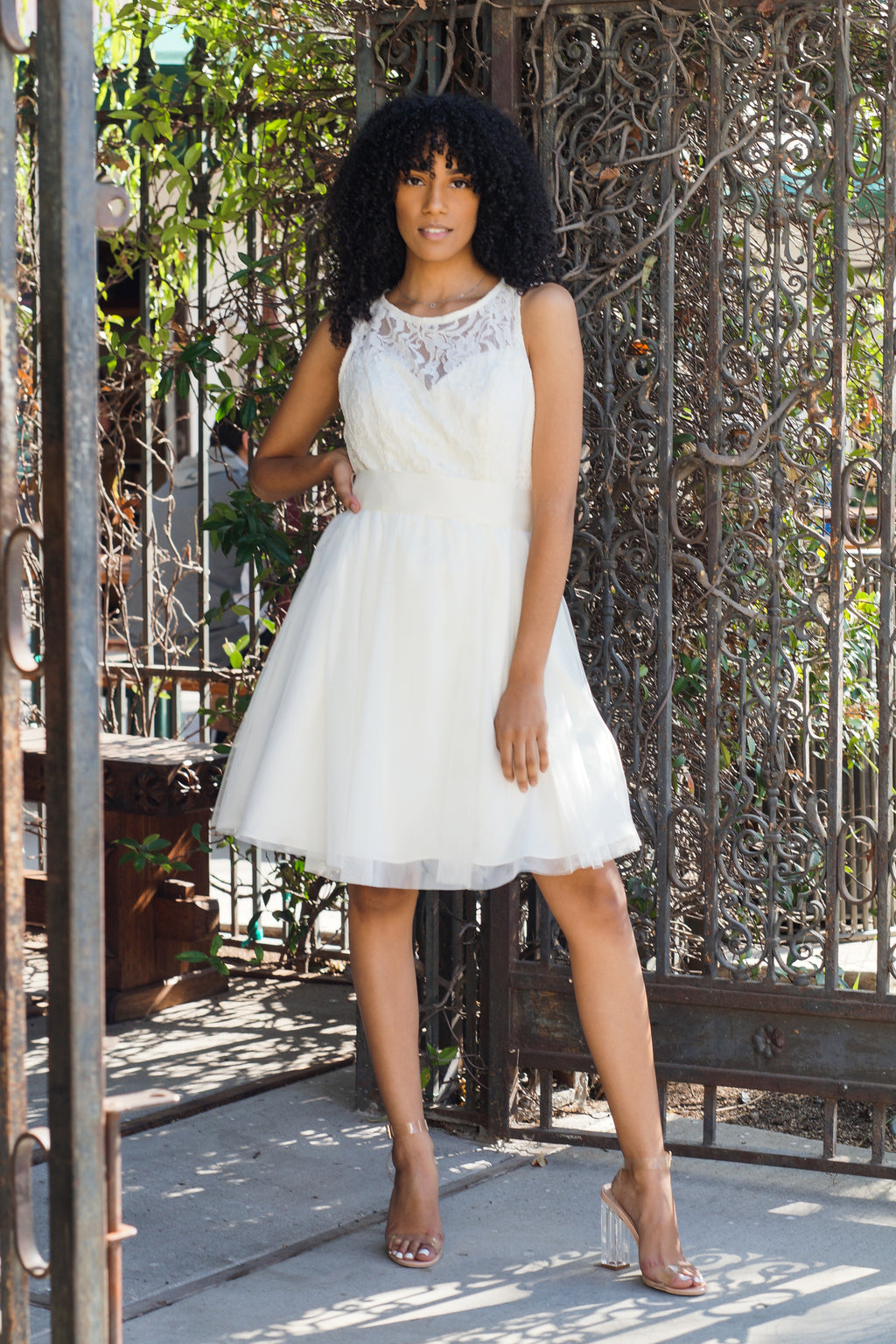 Lace A-Line Party Dress - Mommylicious
