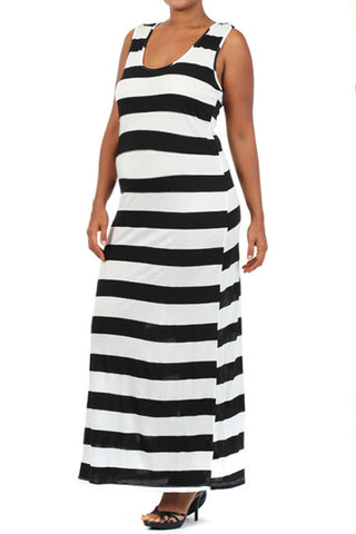 Plus Striped Maternity Dresses