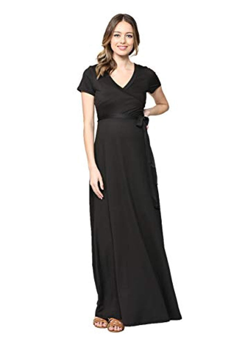 Black Maternity Maxi Dress - Mommylicious