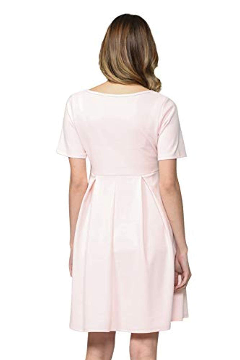 Pink Maternity Midi Dress - Mommylicious