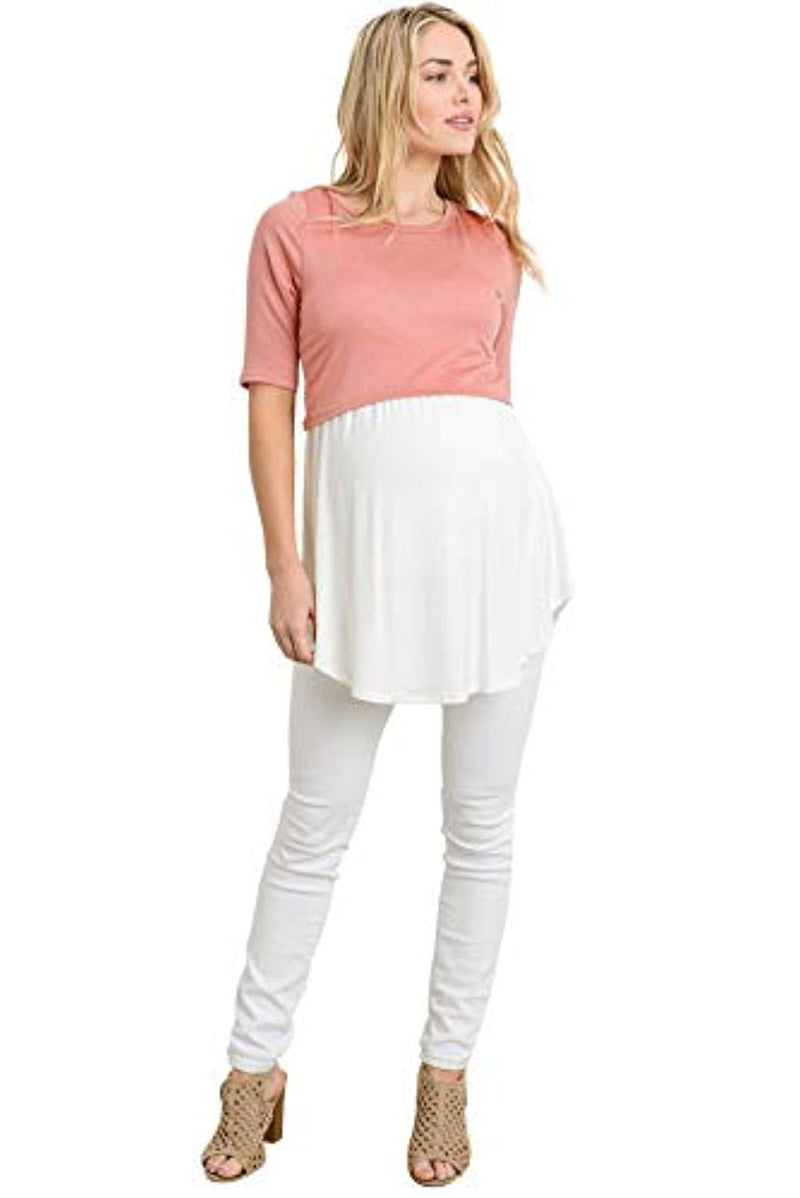 Solid Cropped Nursing Top - Mommylicious