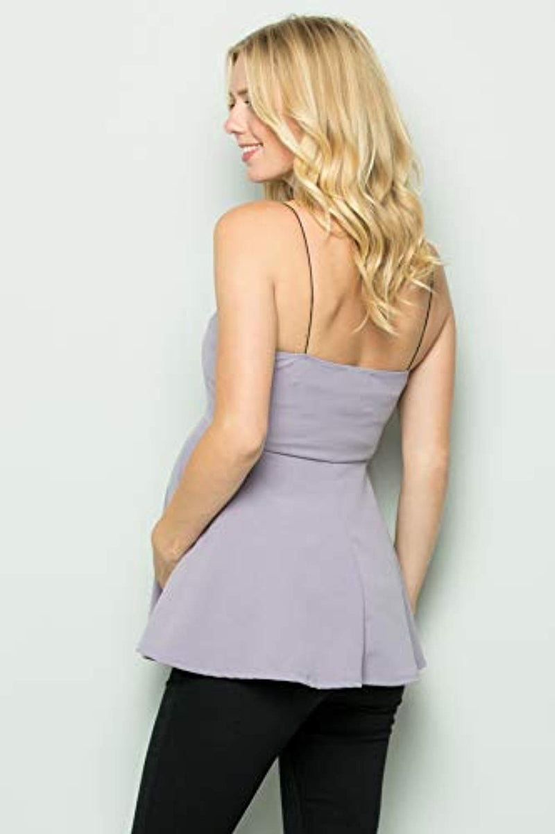 Lavender Peplum Maternity Top - Mommylicious