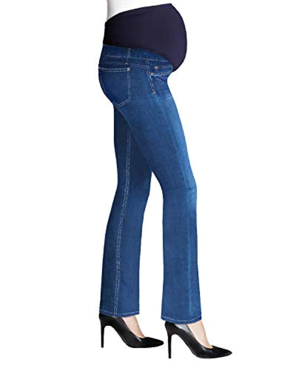 Denim Stretch Bootcut Maternity Jeans - Mommylicious