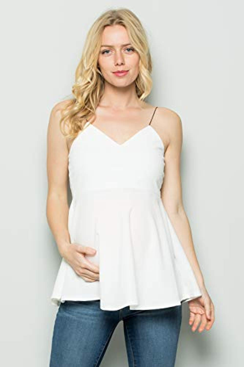 off white maternity tank top