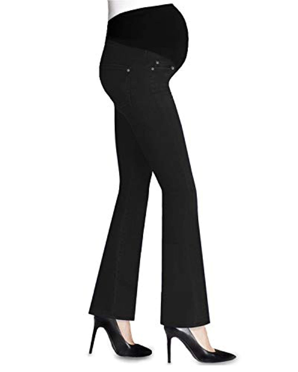 black stretch bootcut maternity jeans