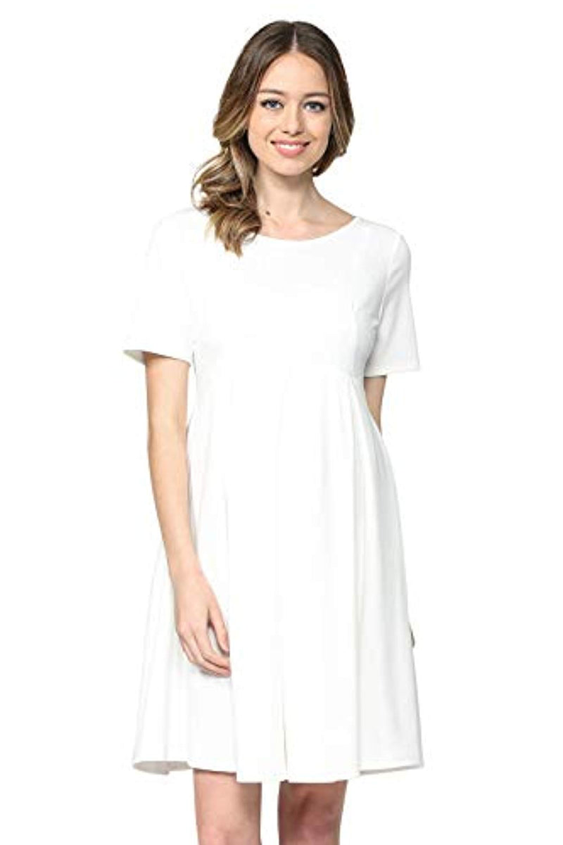 White Maternity Midi Dress - Mommylicious