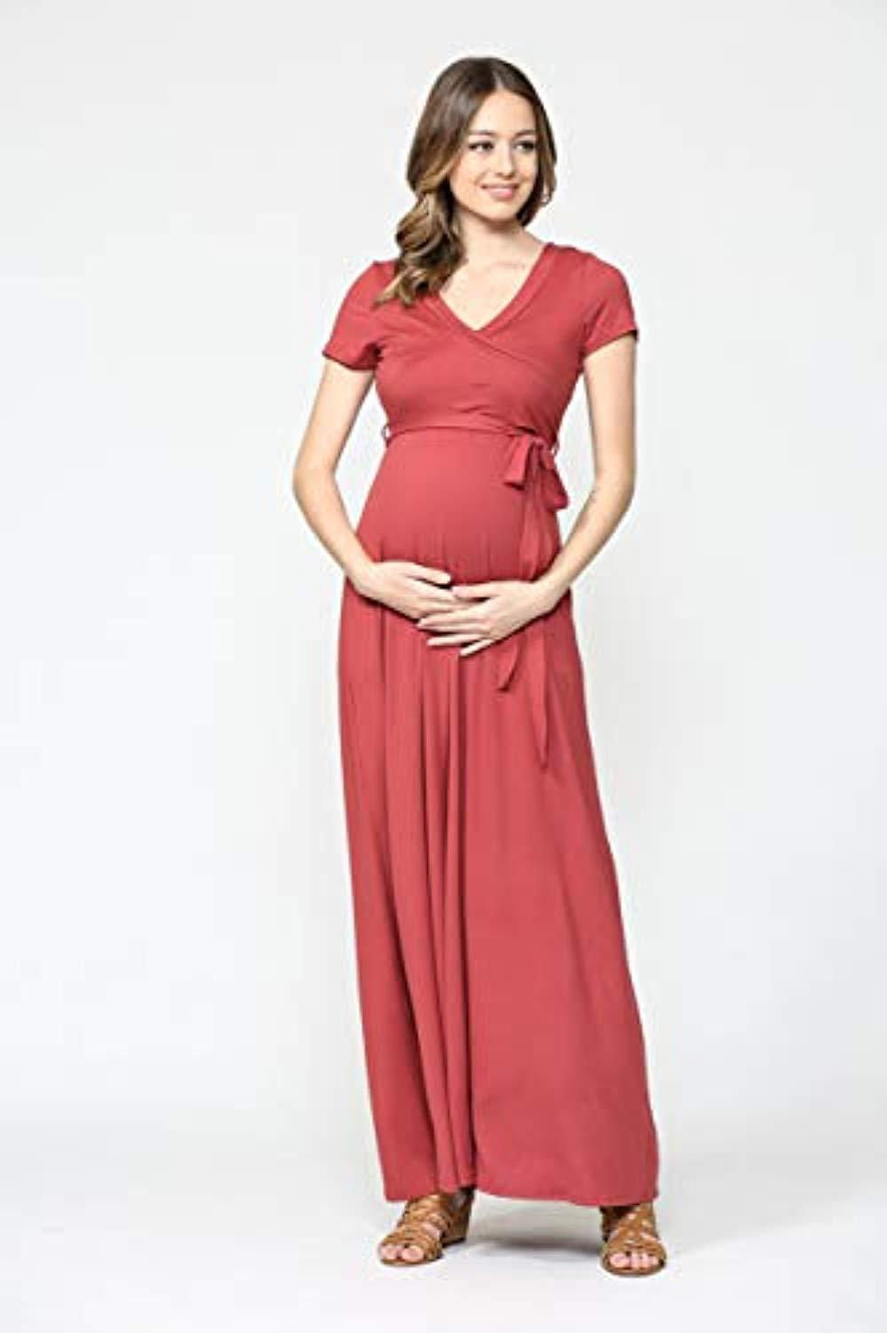 red maternity dress