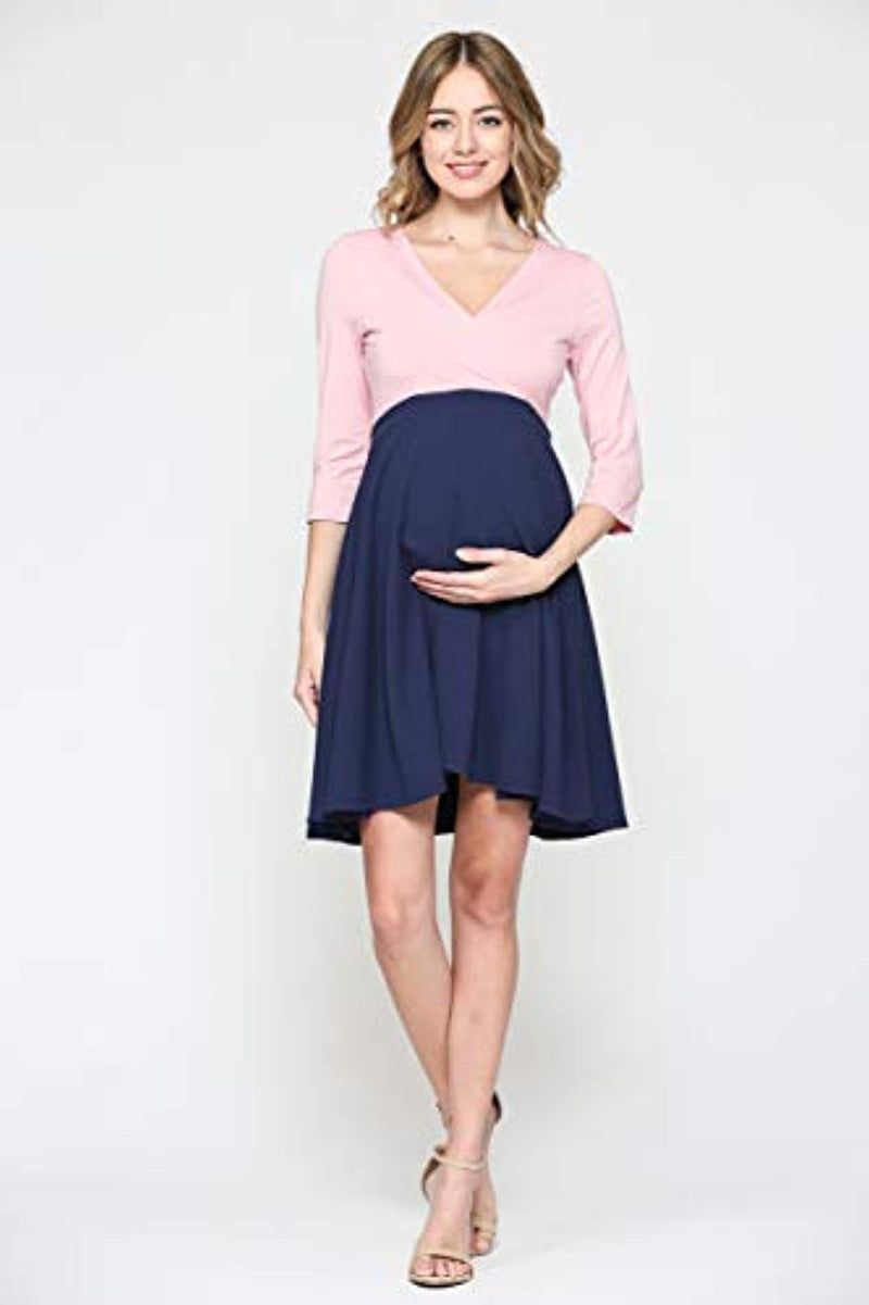 Pink Midi Maternity Dress - Mommylicious