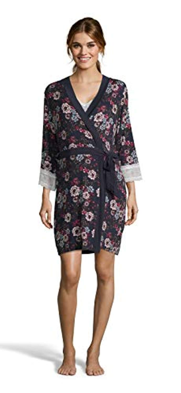 Navy Floral Nursing Nightgown & Robe Set - Mommylicious