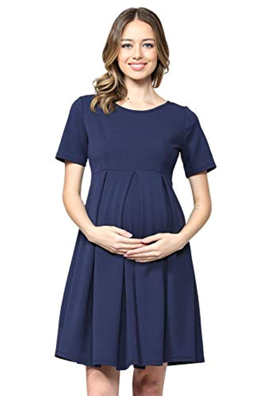 Navy Maternity Midi Dress - Mommylicious