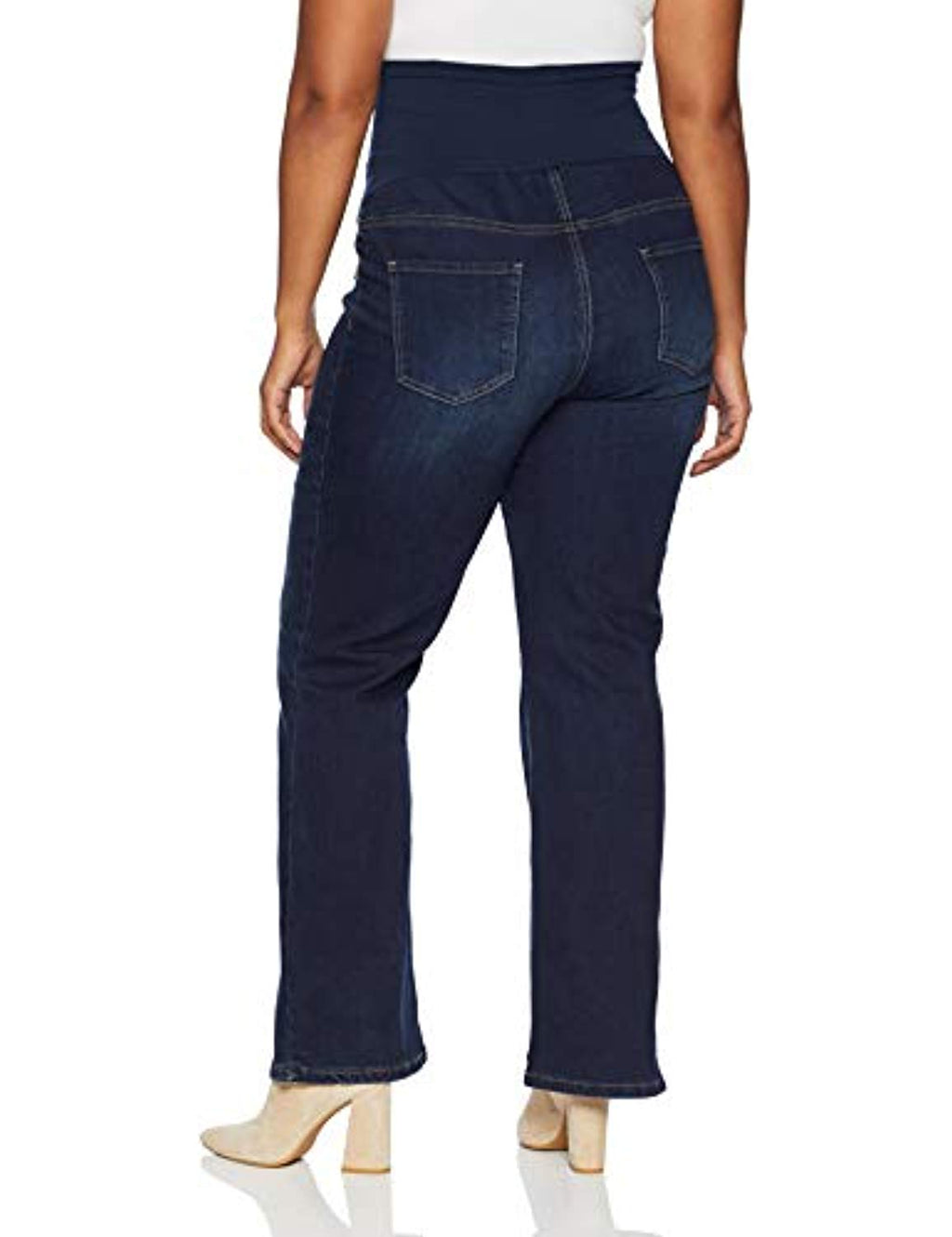 dark washed straight bootcut maternity jeans