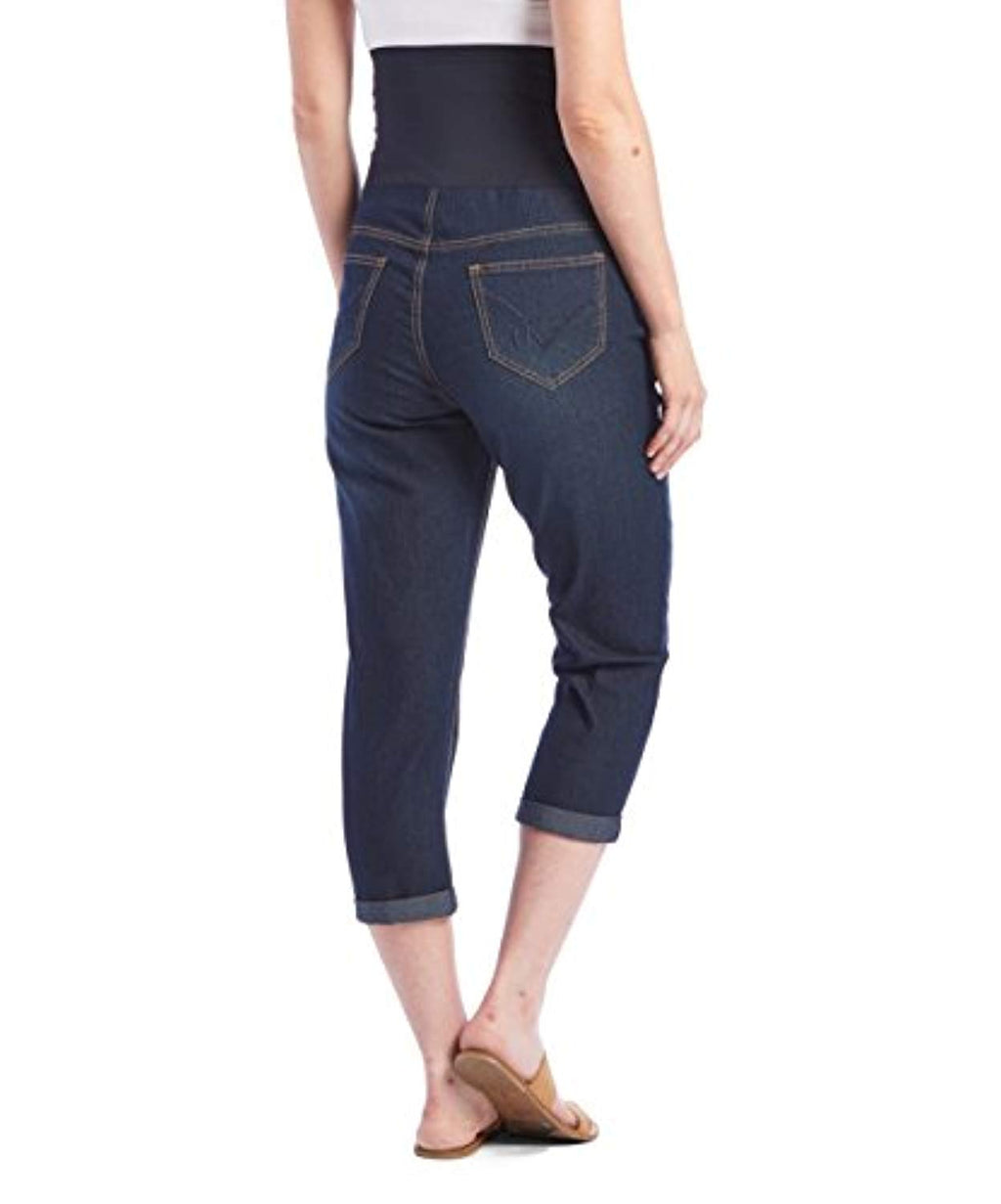 Capri Crop Straight Maternity Jeans - Mommylicious