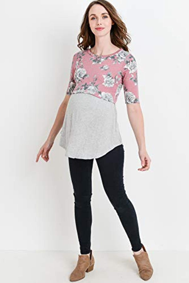 Floral Maternity and Nursing Tunic Top - Mommylicious