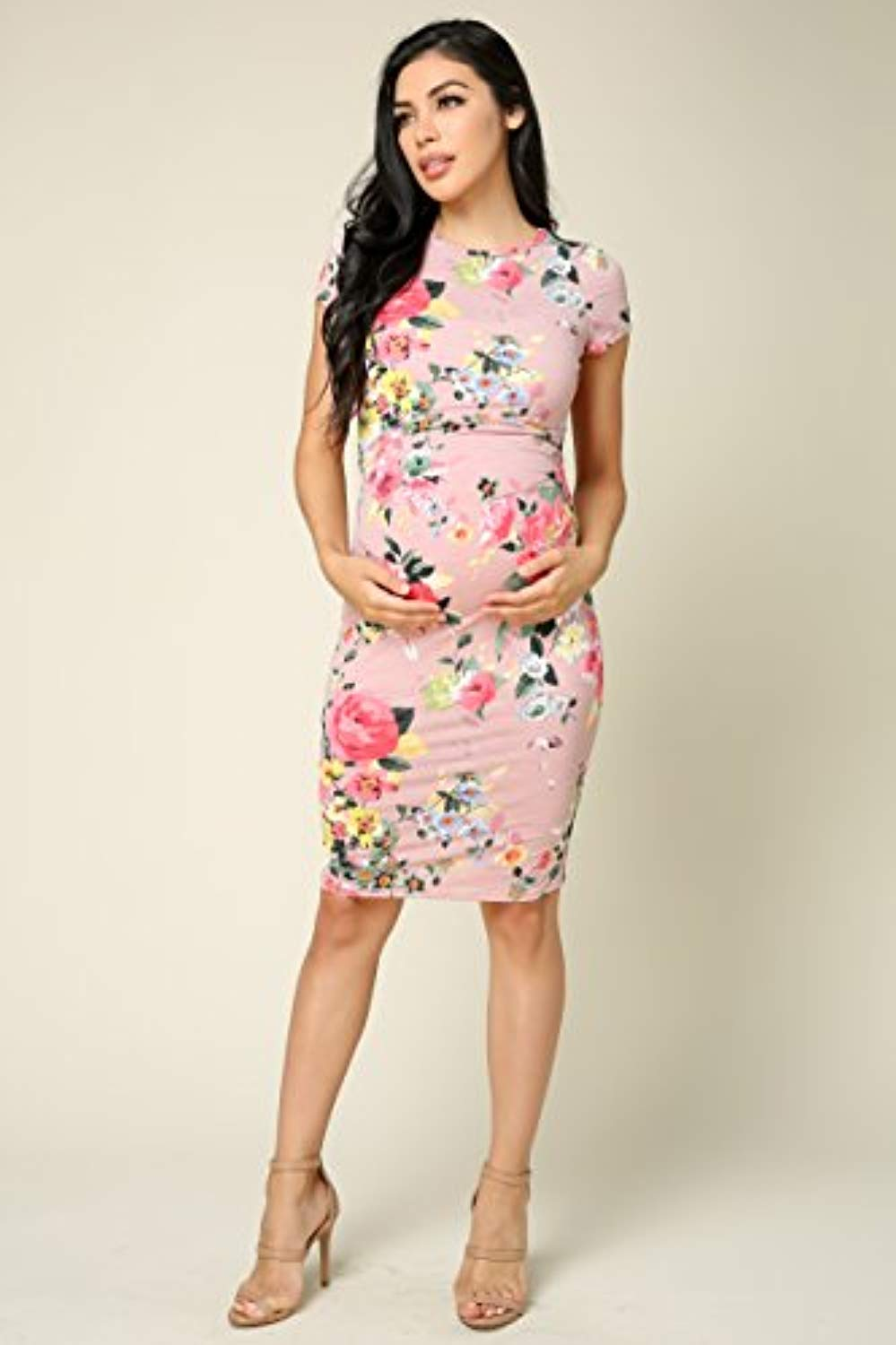 Pink Bodycon Baby Shower Dress - Mommylicious