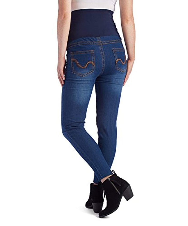 Denim Embroidered Maternity Skinny Jeans - Mommylicious