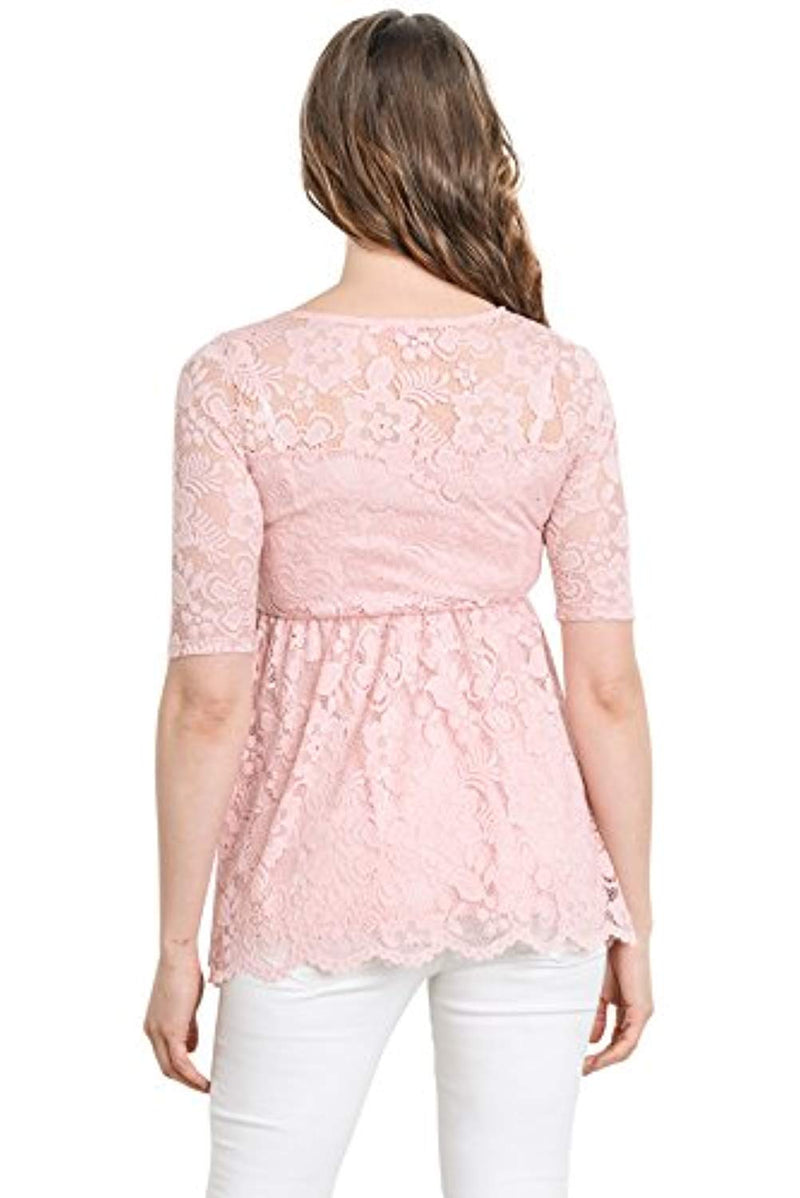 Floral Lace Maternity Blouse Top - Mommylicious