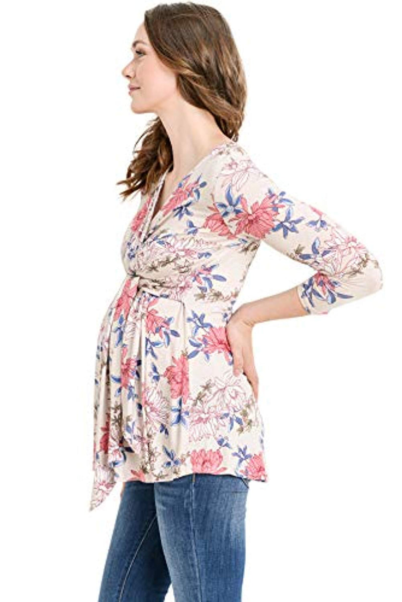 Belted Maternity and Nursing Top - Mommylicious