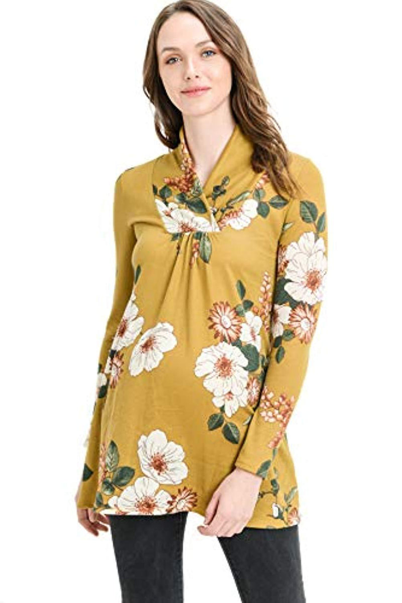 Floral Knit Maternity Tunic Top - Mommylicious
