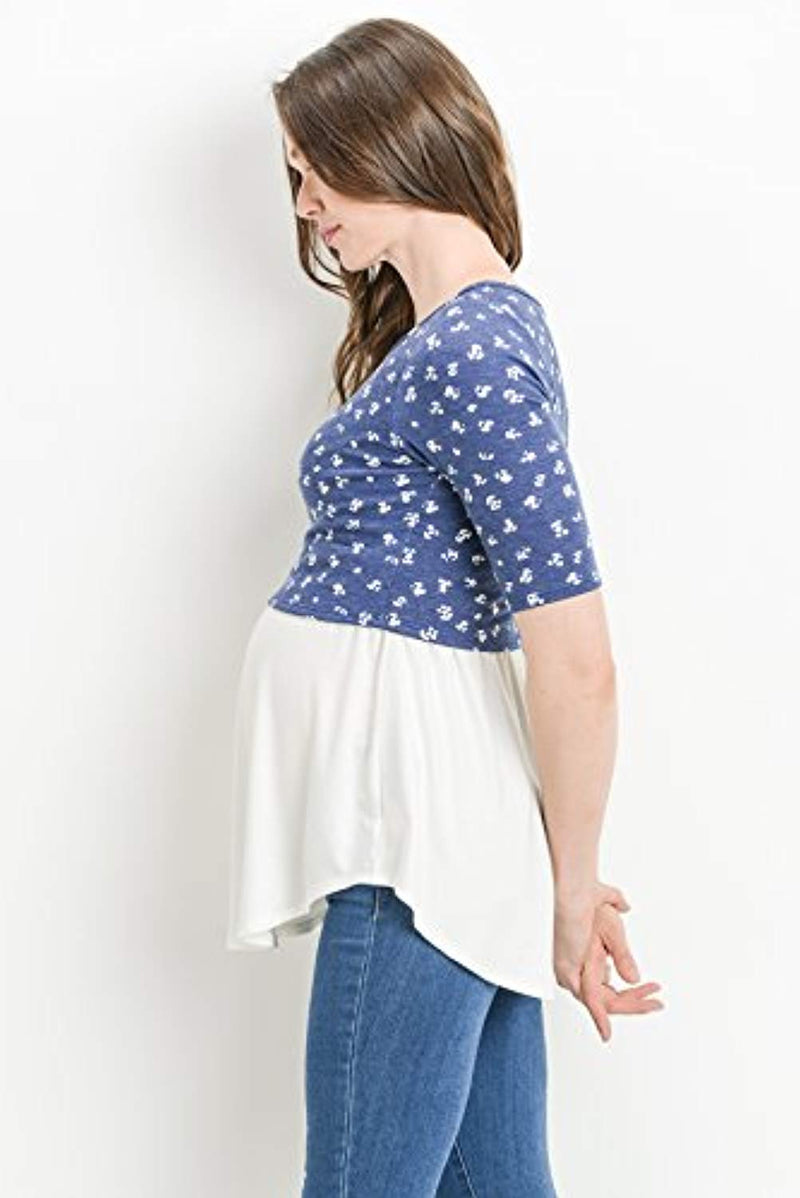 Cropped Maternity Nursing Tunic Top - Mommylicious