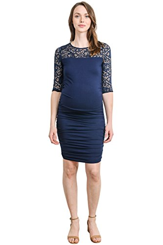 Ruched Bodycon Maternity Dress - Mommylicious