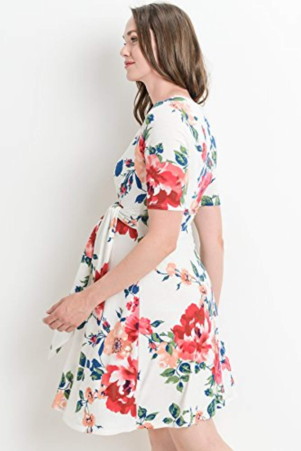 side view floral nursing dress