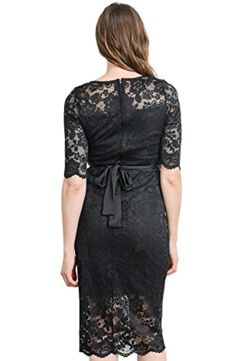 Floral Lace Maternity Dress - Mommylicious