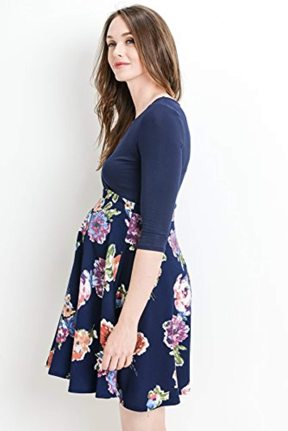 floral empire waist nursing dress